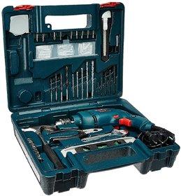 Bosch GSB 500W 10 RE Professional Tool Kit (Blue)