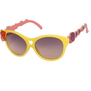 Vespl Black UV Protection Cat-eye Girl Sunglasses
