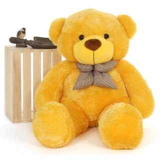 Buy Stuffed Toy 3 Feet Soft And Cute Teddy Bear Yellow Online