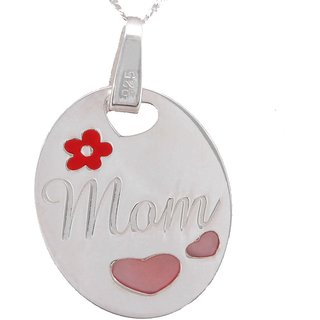 La belle vie 925 Sterling Silver Mom Pendant for her special day -Mother's Day(PC-949)