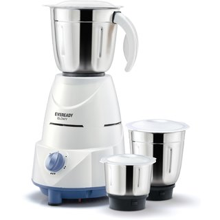 Eveready 500W Glowy 3 Jar Mixer Grinder 2 Year Warranty