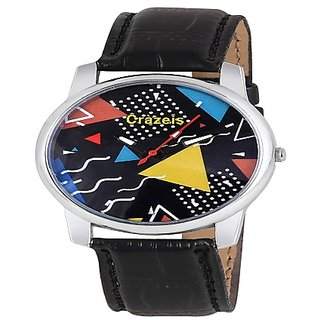 Crazeis Black Color Dial Analog Watch For Men/BoysCRWT-MD33