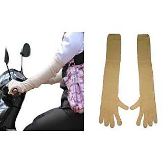 Long Sleeves Skin Protective Unisex Gloves Pair