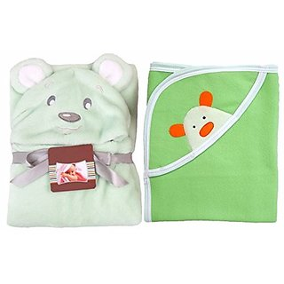 Buy Brandonn Newborn Combo Of Premium Hooded Baby Blanket And Baby