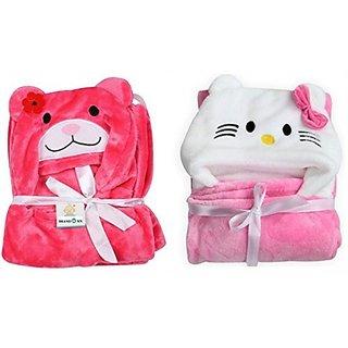 BRANDONN Newborn Originals Premium Supersoft Combos Baby Blanket For Babies(Pack Of 2)