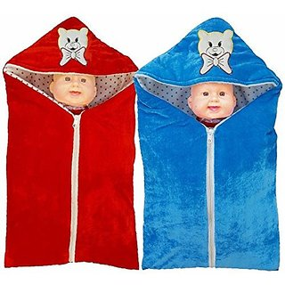 BRANDONN Newborn Pack Of 2 Safety Bag Cum Sleeping Bag Cum Baby Blanket For Babies..