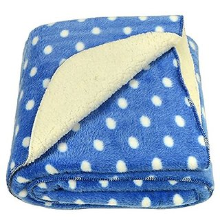 BRANDONN ROYAL BLUE Polka Wrapping Sheet Cum Baby Blanket for Babies( 75 cm x 98 cm)