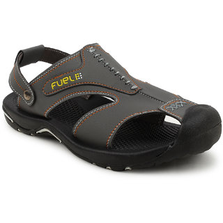 FUEL Men's Boy's Fashionable Comfortable Velcro Closure Solid Casual Floaters  Sandals