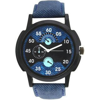 Crazeis Blue Dial Blue Round Strap Casual-PartyWear Watch for Men-Boys-MD24