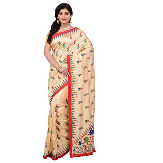 2a53bf719 Buy Mina Saree Beige Art Silk Embroidered Saree With Blouse Online   ₹1795  from ShopClues