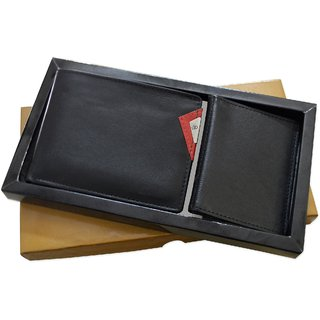 My pac leather Wallet and cardholder gift Combo for men CB16037
