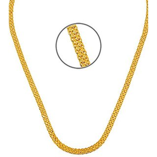 Sparkling Jewellery 22' Inch Gold Plated Flat Unisex Chain