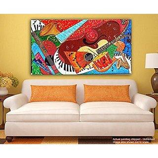 Buy Painting Paintings Canvas Painting - Warli Art Fusion - Tirbal ...
