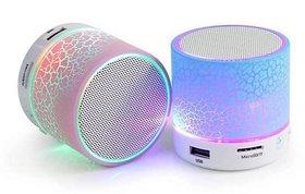 Deals e Unique Bluetooth Speaker Mini Music SD Card Slot  LED(Multi-color)