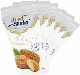 Food Studio American Almonds Dry Fruits Combo of 6 - 250Grams