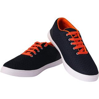 KRISTOF Men's Navy Lace-up Sneakers