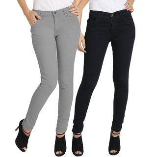 Fuego Multicolour Skinny Fit Jeans For Women