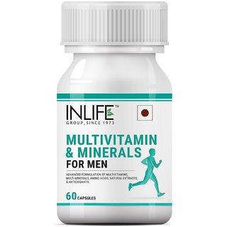 INLIFE Multivitamins  Minerals for Men, Vitamins Supplement - 60 Capsules