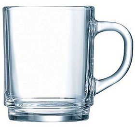 Luminarc Stackable Glass Coffee Cup Mug 250ml (Pack of 6)