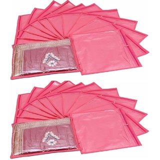 Fashion Bizz Regular Pink Saree Bag - 24 Pcs Combo