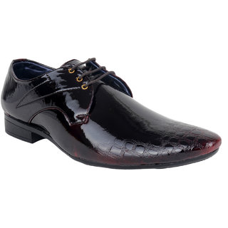 0c9e108a75ce Yellow Tree Black Formal Casual Shoes For Mens Lace Up Printed Black Heel  Shoes