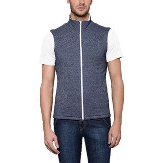 Scott Men's Grey Melange Cotton Sleeveless Jacket