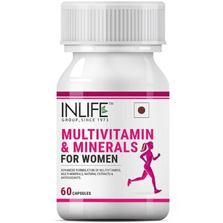INLIFE Multivitamins  Minerals for Women Vitamins Supplement - 60 Capsules