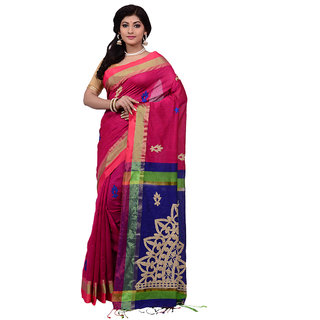 bcf809257 Buy Mina Saree Blue Silk Woven Design Saree With Blouse Online   ₹1515 from  ShopClues