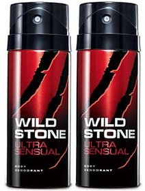 Wild Stone Ultra SenSual Body Deodrant 150ml pack 2