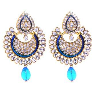 Jewel Treasure Alka Alloy Drop Earring
