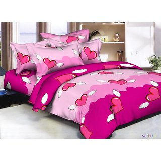 Z decor Cotton 1 Double Bed Sheet, 2 Pillow Cover(arjun3)