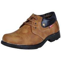 MARCO FERRO Men's Tan Lace Up Smart Casuals Shoes