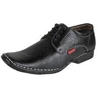 MARCO FERRO Men's Black Lace Up Smart Casuals Shoes