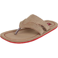 MARCO FERRO Men's Tan Slip On Sandals