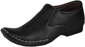 MARCO FERRO Men's Black Slip On Smart Casuals Shoes