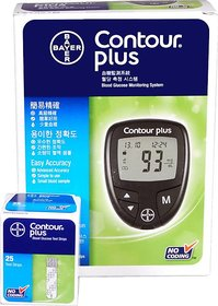 BAYER CONTOUR PLUS GLUCOMETER WITH LIFETIME WARRANTY 25 STRIPS FREE