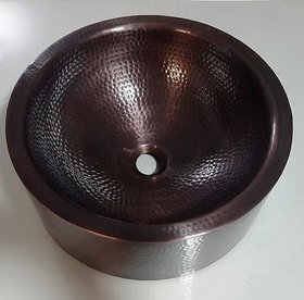 REMAC WALL-DOUBLE BOWL COPPER VESSEL SINK.