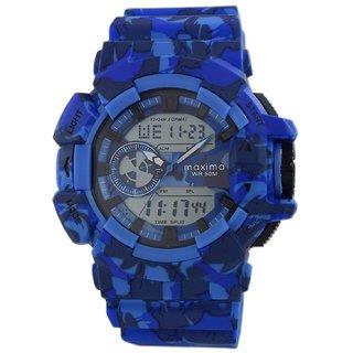 Maxima Analog-Digital Black Dial Mens Watch-42943PPAN
