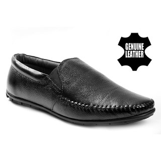 Baton Men's Black Formal Slip on Shoes