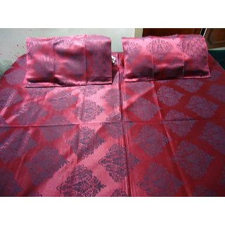 Printed Double Bed Sheet with 2 Pillow Cover.(Size  90100)