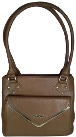 Shoulder Handbag   Brown Color  For Women  By AZED Collections