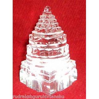 ORIGINAL Sphatik Shree Yantra / Quartz Crystal Shri yantra - 191 gm - Lab certified