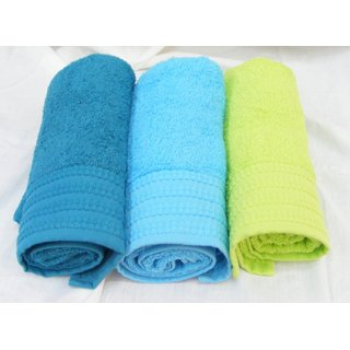 New Labno Cotton Multi Color 350 GSM Bath towel set of 3