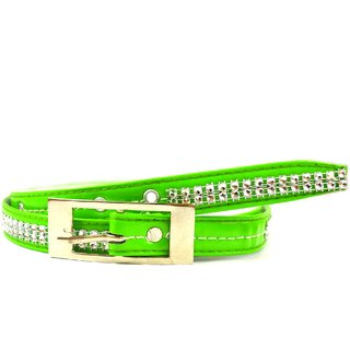 e4763d67516 Buy iMex Women s Causal Party Green Artificial Leather Belt Online - Get  54% Off