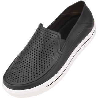 Men's Casual Stylish Black Rubber Loafer Shoes Size-8