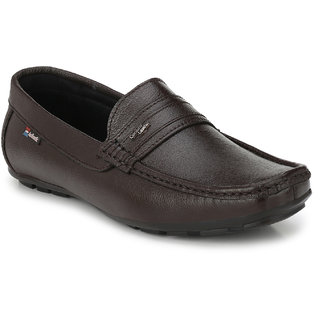 White Walkers Men's Brown Leather Loafers Shoes