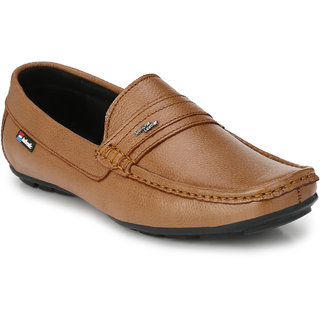 74d01a19cf0 Buy White Walkers Men s Tan Leather Loafers Shoes Online - Get 45% Off