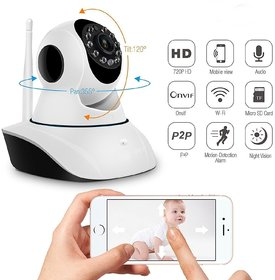 Royallite  Wireless HD IP Wifi CCTV Indoor Security Camera Stream Live Video in Mobile or Laptop - White