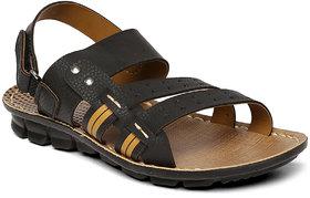 Paragon-Slickers Men's Black Slippers