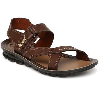 Paragon-Slickers Men's Brown Slippers